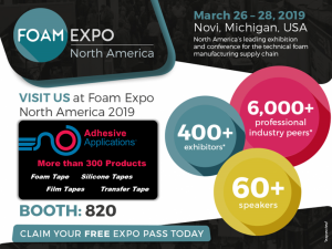 Foam Expo 2019 Adhesive Applications